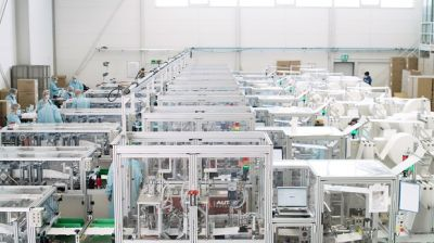 Autefa Solutions Germany - HiPerMask production line