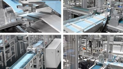 Pfaff Industriesysteme - Fully automatic production of face masks